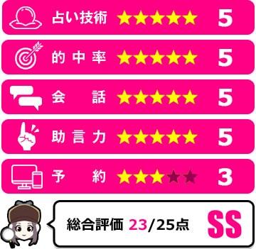愛琉先生の評価